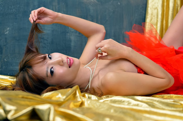 4 Hot red Han Min Young - very cute asian girl-girlcute4u.blogspot.com