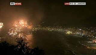 New Year 2012 Eve Celebrations in Rio de Janeiro, Brazil, Fireworks across Copacabana beach -Travel Europe Guide