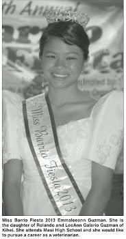 Miss Barrio Fiesta 2013 Emmaleann Guzman