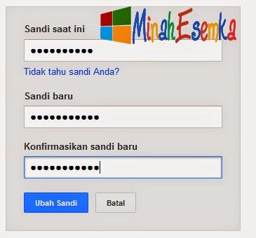 Cara Mengganti Kata Sandi Akun Gmail