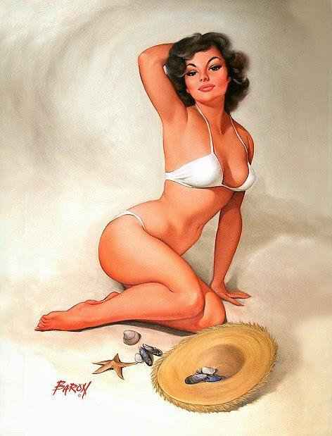 pintura de mulher bonita