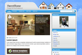 SweetHome Blogger Template