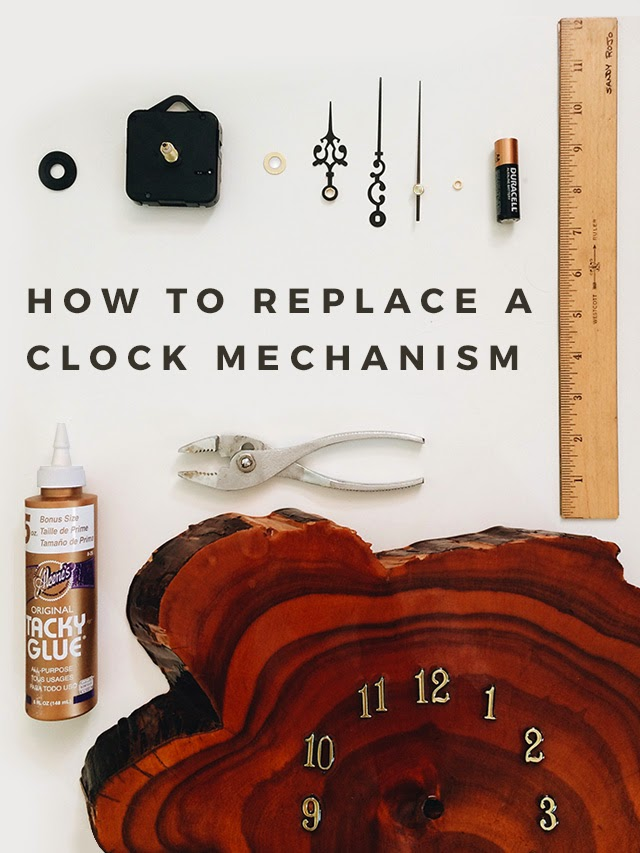 Elaine's Blog: DIY: Replacing a Clock Mechanism