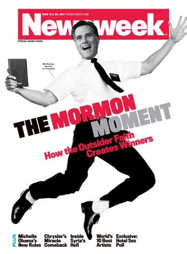 newsweek romney cover. Newsweek, Portraying Romney as