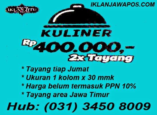 Promo Iklan Jawa Pos Mini Kolom Kuliner