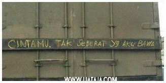 Tulisan Kocak dan Kreatif di Truk | liataja.com
