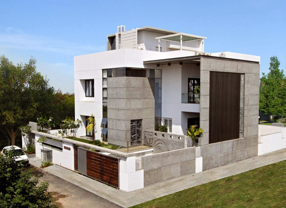 News time modern exterior home design ideas for Modern villa exterior design