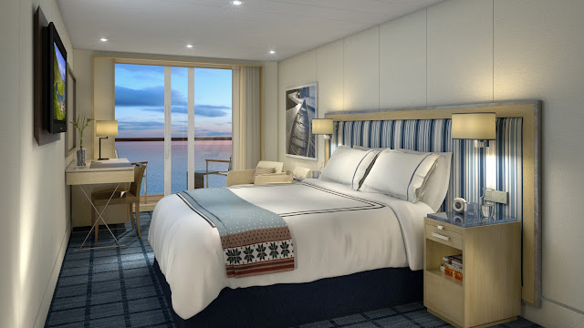 Deluxe Veranda stateroom measures in at 270 sq. ft.