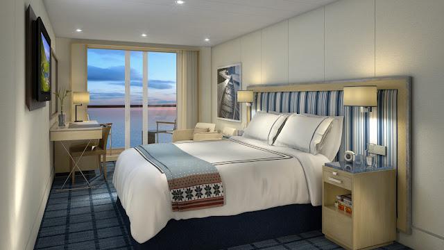 Deluxe Veranda stateroom measures in at 270 sq. ft.