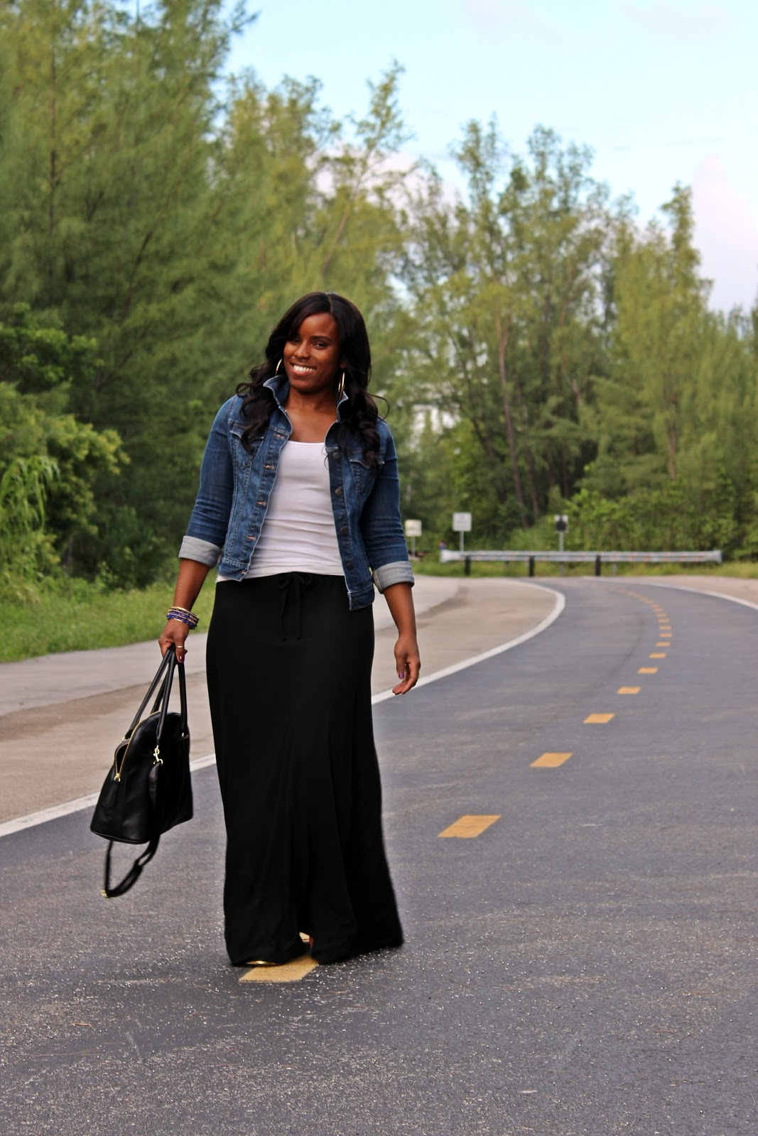 impressive outfit with black maxi skirt 9