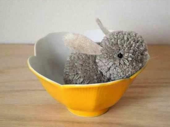 Macam Kerajinan Tangan, Cara Membuat Kelinci Wool 6