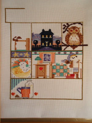 Where I left off stitching in 2004....