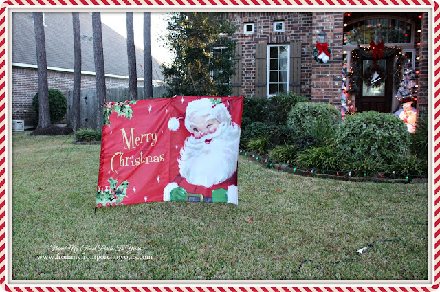 Vintage Santa Nylon Christmas Yard Decor-Christmas Front Porch-From My Front Porch To Yours