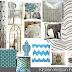 Elegant and Fresh E-Design Living Room Board