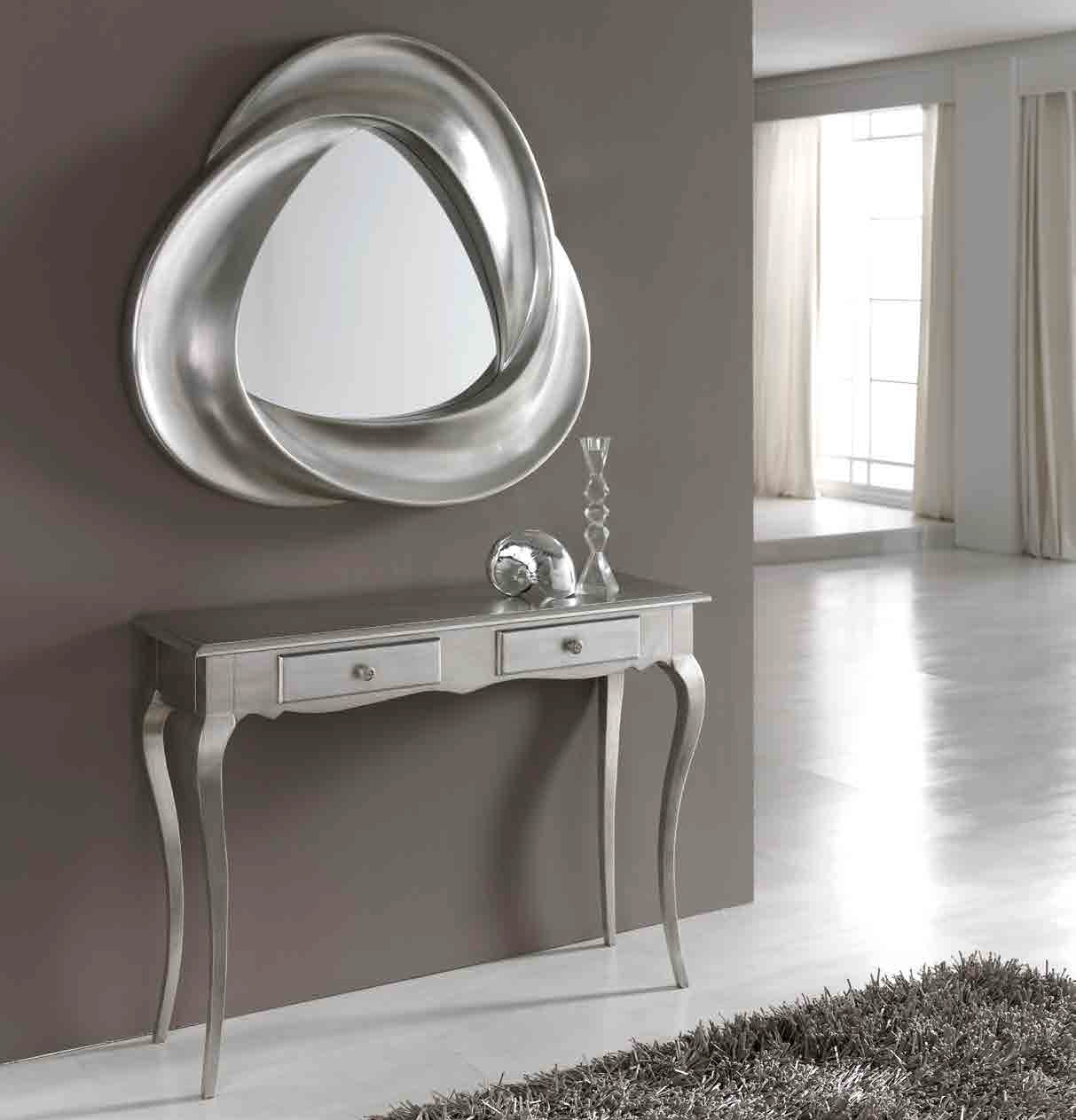good tienda muebles de salon de diseo madrid febrero with espejos para entradas - Espejos Plateados