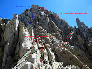 Our approximate ascent and descent routes going to Polemonium Peak.