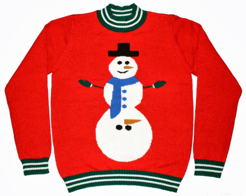Fr  230 k og kinky jule sweater tr  248 je med snemandUgly Christmas Sweaters Clipart