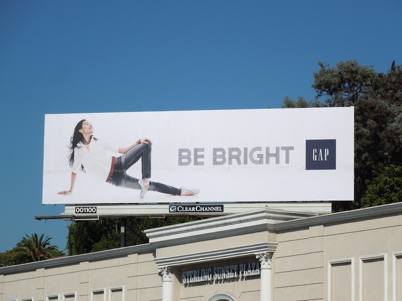 Gap Yuan Yuan Tan Be Bright billboard