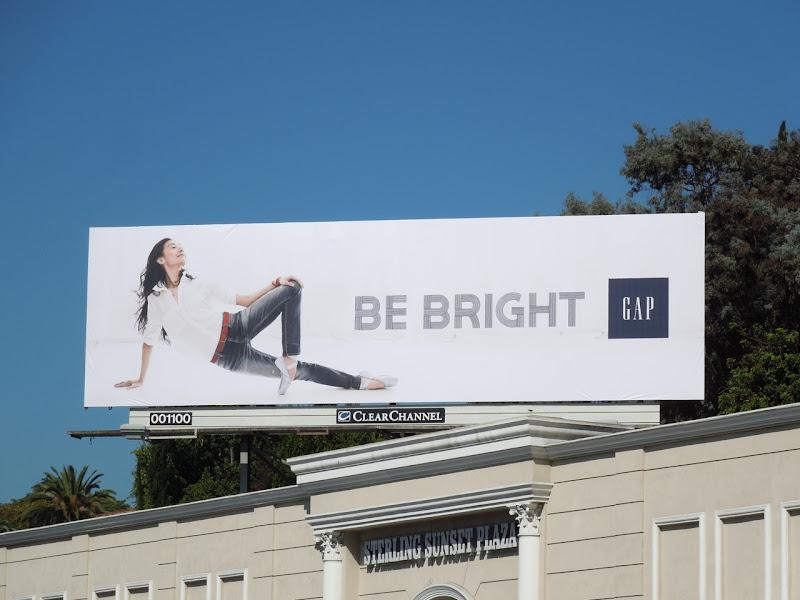 Gap Yuan Yuan Tan Be Bright billboard
