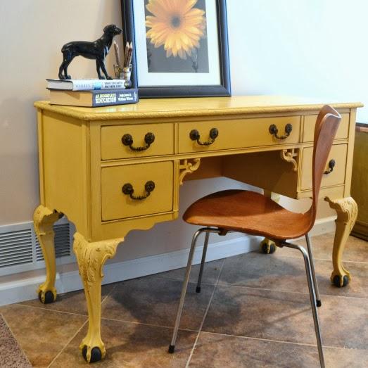 http://southofmain.com/2014/01/30/a-heavy-metal-quilt-a-vintage-desk/