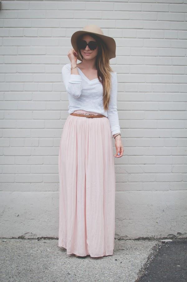OOTD - Blush Maxi Skirt | La Petite Noob | A Toronto-Based Fashion ...