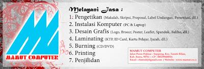 Desain: Spanduk Stiker Mamut Computer