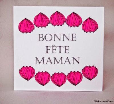 Carte bonne fête maman ezebee