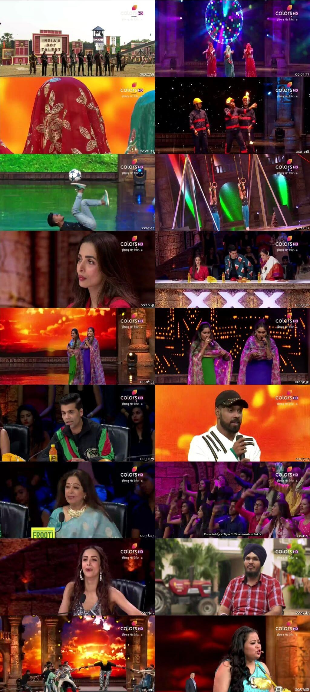 Screenshots Of Hindi Show India's Got Talent 2018 Season 08 Episode 09 17th November 300MB 480P HD