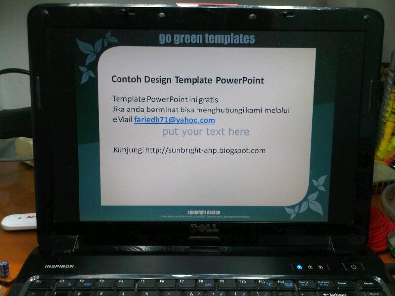 Contoh design template ppt