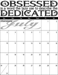 July 2016 Inspirational Calendar