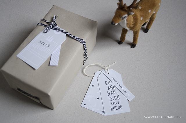 Descargable gratuito etiquetas navidad
