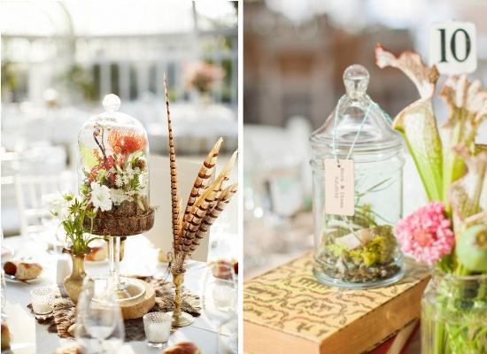 Centritavola da matrimonio alternativi, alternative wedding centerpieces, terrarium wedding centerpieces