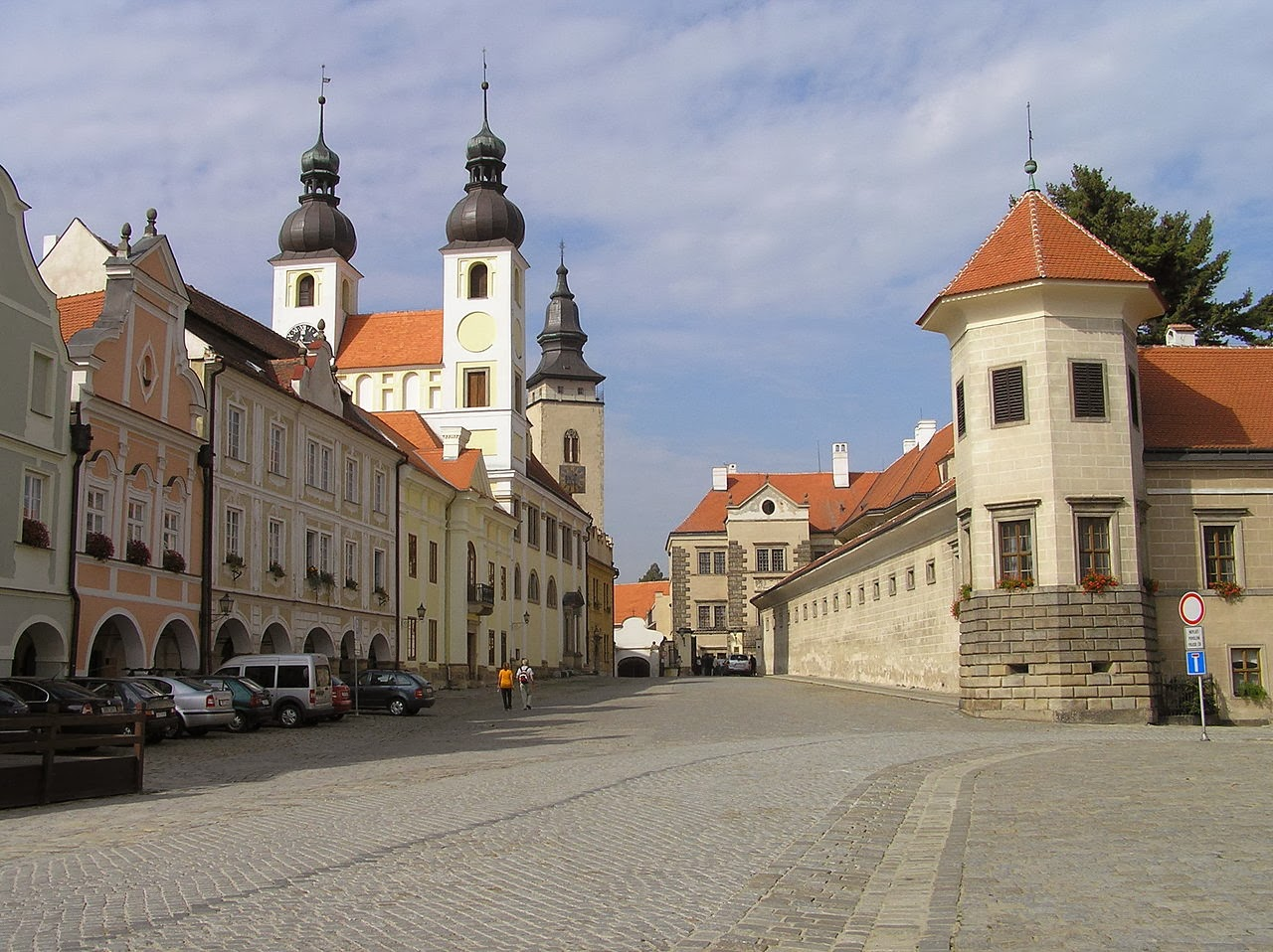 Street in Telc, Czech Republic