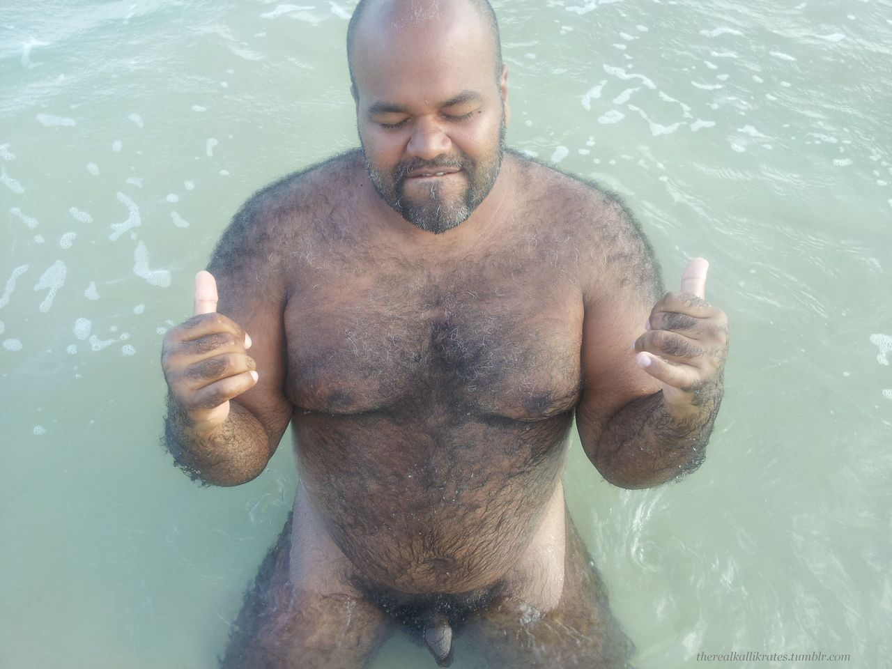 naked hairy old black men