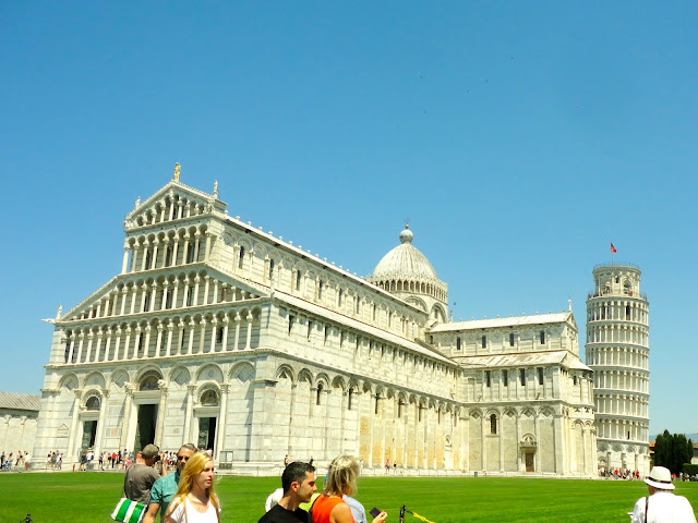 The Piazza del Duomo at Pisa, Tuscany, Italy