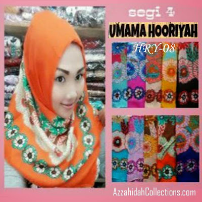 Jilbab Segi Empat Umama Scarf Hooriya - www.azzahidahcollections.com