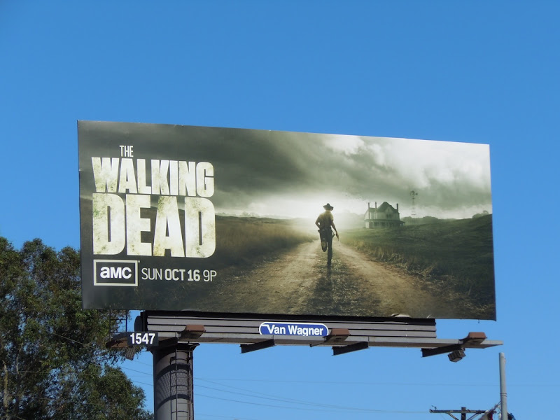 The Walking Dead season 2 billboard