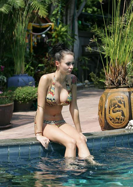 Jessica Jane Clement's Body is Damm Gorgeous..( Poolside Bikini Candids )