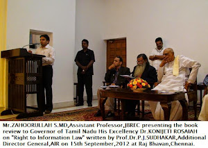 Mr Zahoorullah S MD along with Governor of Tamil Nadu at Raj Bhavan Chennai