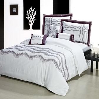 Bedroom Design Embroidered Bed Sheets