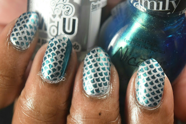 Mermaid Scales - Stamping Saturdays #6