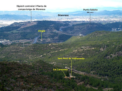 Vista cap al nord-est des del Puigsoler