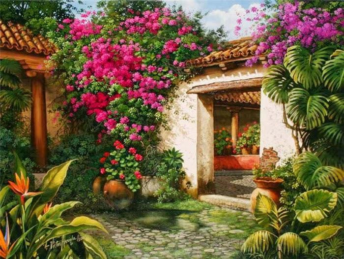 Por amor al arte v ctor arriola un apasionado del color - Cuadros estilo colonial ...