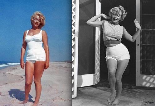 Marilyn monroe thigh gap