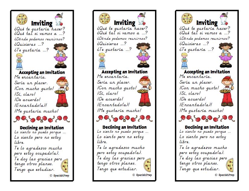 SpanishPrep Blog: Spanish Speaking Cues for class ...