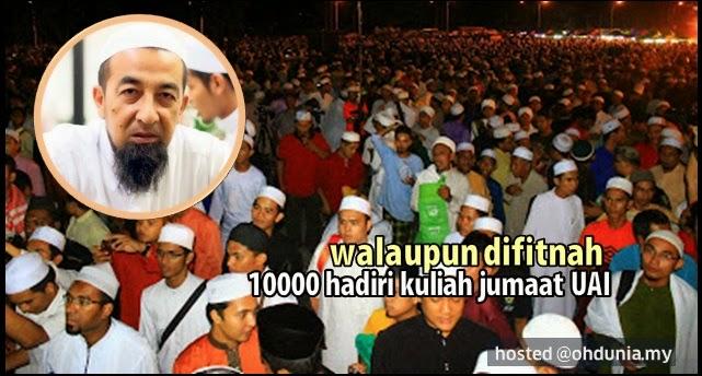 Walaupun Difitnah, 10000 Hadiri Kuliah Jumaat UAI Di Kota Bharu