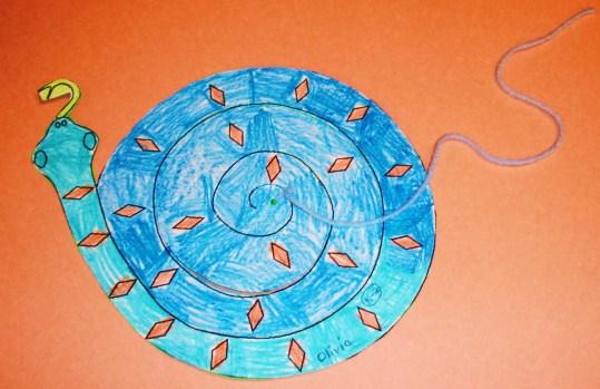Hanging Spiral Snake Craft | Preschool Crafts for Kids