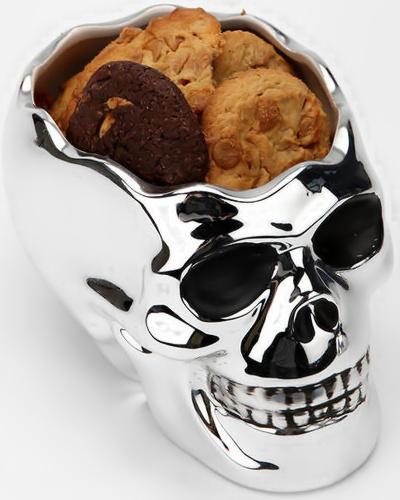 Skull cookie jar - Kranium kagedåse med småkager