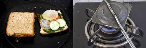 Mumbai Veg toast sandwich