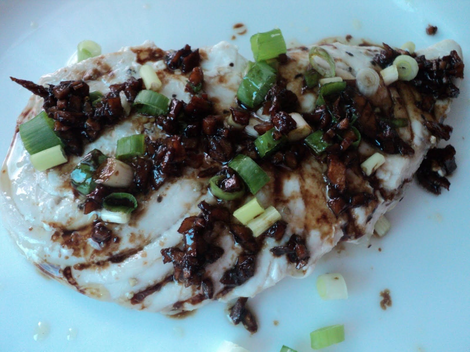 blue marlin in soy sauce sesame oil
